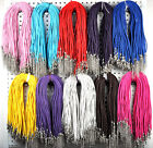 5/50/100 Wholesale Jewelry Lots Braided Leather Cord Necklace with Lobster Clasp