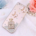 Bling Clear Crystal Diamond Soft TPU Phone Case Cover For iPhone5 6 SamsungS6 S7