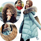New Womens Fur Collar Winter Outerwear Duck Down over Hooded Thicken Parka Coat