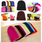 fashion Unisex  Beanie Knit Ski Cap Hip-Hop Blank Color Winter Warm Wool Hat