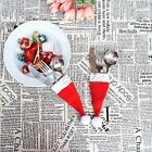 Cute Xmas Hat Tableware Holder Cutlery Bag for Dinner Table Christmas Decoration