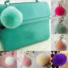 Keyring Pompom Keychain Ball Real Fur 8cm Ball Monster Soft Fluffy Charm Dangle