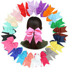 6 Inches Super Big Huge Large Grosgrain Ribbon Hair Bows Hair Tie Pigtail Holder