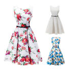 Sexy Women Vintage 50's 60's Housewife Casual Swing Pinup Evening Party Dress