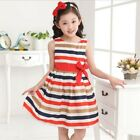 Kids Clothes Baby Girl Dress Summer Party Holiday Birthday Costume Clothing 3-8Y