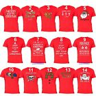 UGLY CHRISTMAS SHIRT Vacation Santa Funny unisex Men Women Family T-shirt RED