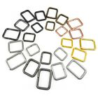 Metal rectangle loops webbing different sizes and colours available wire open
