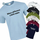 Funny T-Shirt for DAVE What a Difference a Dave Make Christmas, Birthday Gift