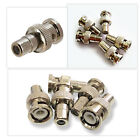 1/5pcs BNC Male to RCA Female Coupler Panel Mount Connector Joiner Adapter
