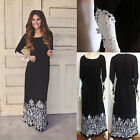 Fashion Women Summer Lace Long Sleeve Party Evening Cocktail Maxi Long Dress