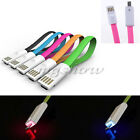 1M LED Light Up USB Data Sync Charger Cable For Android Samsung Cell Phones