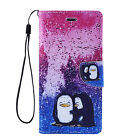 PENGUINS Leather Flip Wallet Protective Case Cover For Apple iPhone 6 6S 7 PLUS