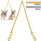 Didog Stainless Steel 2 Way Dog Leash Coupler Double for Twin Dogs Silver Gold