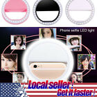 US New Beauty Selfie LED Ring Flash Fill Light Clip Camera For Phone Samsung HTC