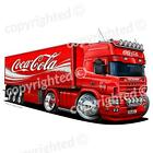 Scania 164 Coca Cola - Vinyl Wall Art Sticker - Red £19.99  on eBay