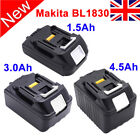 New 18V 1.5Ah/3.0Ah/4.5Ah Battery For Makita  BL1830  BL1840 BL1815 Lithium Ion