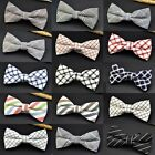 Luxury 12*6cm Adjustable Men Cotton Bow Tie Plaid Striped Bowties Necktie Hooked