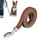 "Didog Brown Genuine Leather Dog Leash 40""/50""/70"" Long Thick Durable Dog Lead"