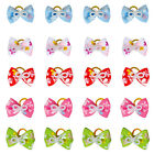 50/100pcs Butterfly Print Cat Kitty Kitten Dog Hair Bows Grooming Accessories
