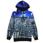 A Gentleman Stand By Stairs On Berlin Wall 3D Image Pint Men Hoodies Jumper Top