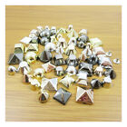 50 x ACRYLIC PIN STUDS *7 STYLES, 4 COLOURS & 3 SIZES* CRAFTS CLOTHES BAGS