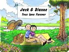PERSONALIZED CUSTOM CARTOON PRINT - LOVERS IN PARK - GREAT GIFT IDEA! FREE S/H