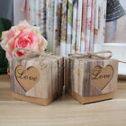 Love Heart Kraft Candy Box Wedding Party Favour Xmas Gift Bags Home Decor