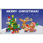 Merry Xmas, Father Christmas, Reindeer, Christmas Tree Flags, Happy  5 designs