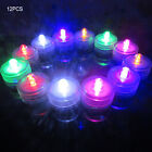 12Pcs Battery Operated Flameless LED Candles Round Lamp Tea Lights Waterproof