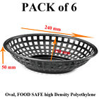 6 Fast Food Display Plastic Baskets Red Black Yellow Blue Green Pink Brown Gray