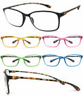 1 or 3 Pair Retro Square Colorful Thin Frame Full Lens Reading Glasses Readers