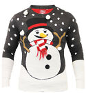 Mens Christmas Jumper Xmas Knitted Snowman Carot Novelty 3D Sweater New S M L XL