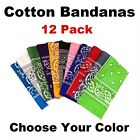 Bandanas Paisley Design (12 Pack) - bandanas various colors