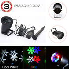 IP68 Waterproof LED Snow Snowflake In/Outdoor Lawn Night Projector Moving Lights