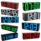 110V Mute Alarm Clock LED Digital Large Big Jumbo Snooze Room Wall Desk Calendar