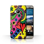STUFF4 Phone Case/Back Cover for HTC One M9+/Plus /Modern Vibrant