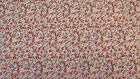 Pink Red Floral 100% Cotton Prints Dress Craft Fabric 160cm Wide FREE P+P