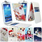 CHRISTMAS LEATHER FLIP CASE COVER WALLET FOR SAMSUNG GALAXY S4 IV i9500 / i9505