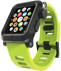 Luxury Aluminum Metal Case Bumper+Silicone Strap Cover For Apple Watch 1 42mm XD