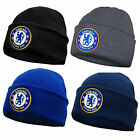 Chelsea FC Official Football Gift Knitted Bronx Beanie Hat Crest