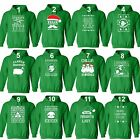 Unisex UGLY CHRISTMAS SWEATER Vacation Santa Funny Women's Mens Hoodie GREEN
