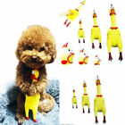 3Size Yellow Screaming Rubber Chicken Pet Dog Toy Squeak Squeaker Chew Doll Gift