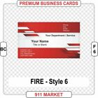 Firefighter Business Cards Full Color Fire Department Chief Service Badge Patch