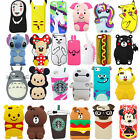 3D Cartoon Animals Soft Silicone Gel Back Rubber Case Cover For iPhone Various