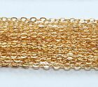 GOLD FILLED FLAT CABLE CHAIN.Link 1.9 x 2.3 mm Unfinished Bulk Chain