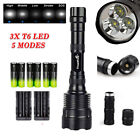 Super Bright Tactical 3X XML-T6 LED 80000LM 5-mode Flashlight/18650/charger USA