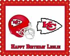 Kansas City Chiefs - Edible Cake Topper OR Cupcake Topper, Decor $16.95 USD on eBay