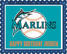 Florida Marlins - Edible Cake Topper OR Cupcake Topper, Decor on Ebay
