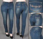NWT Women PLUS SIZE Skinny butt lift jeans extra stretch FRE