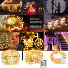 22M 20-200 LED Battery/Solar Christmas Fairy String Lights Xmas Party Waterproof